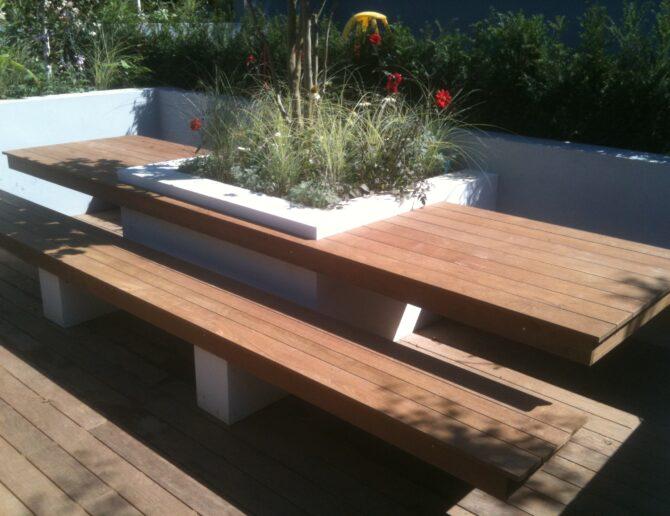 Fantastic Bespoke Table Bench Waratah Gardens Beatyapartments Chair Design Images Beatyapartmentscom
