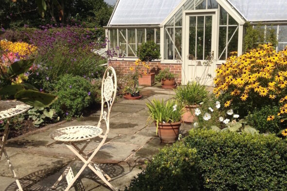 Victorian Greenhouse & Flower Borders